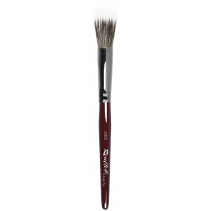 Кисть круглая Roubloff из волоса синтетики и коричневой козы для румян №12  (dd12)